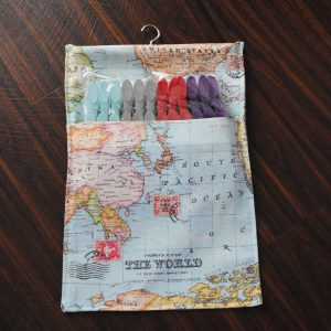 Map of the World Pegbag
