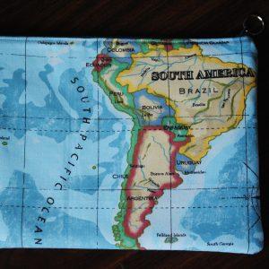World Map Laptop Case